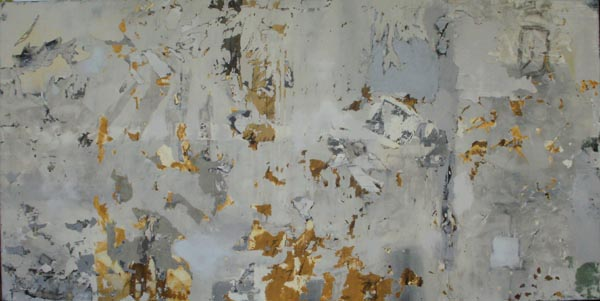 Deconstructed #5 (sold), 36 x 72, mixed media/canvas
