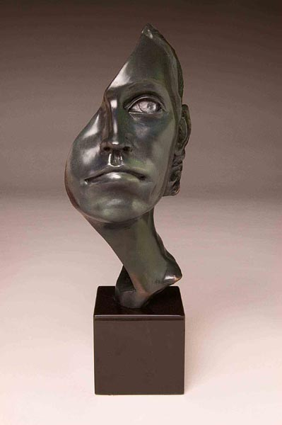 Face Part I, 13 x 3 x 5, bronze