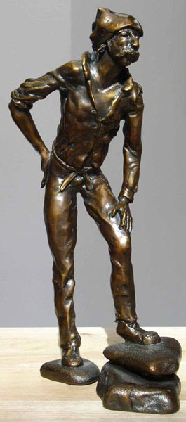 The Wanderer, 14 x 4 x 3, bronze